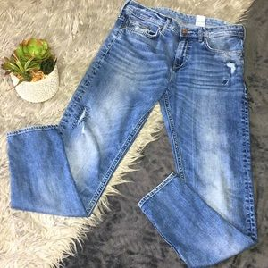 H&M low waist boyfriend tapered jeans size 27/32